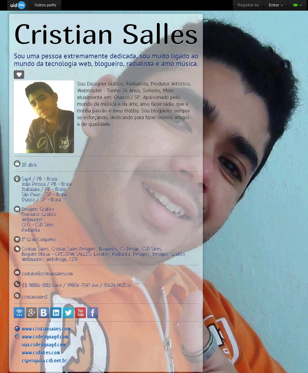 Cristian Salles (cristiansalles) - uid.me