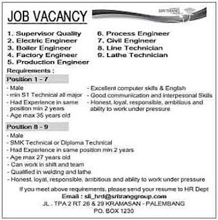 JOB VACANCY Palembang