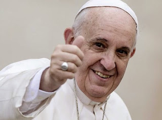 Pope Francis punching