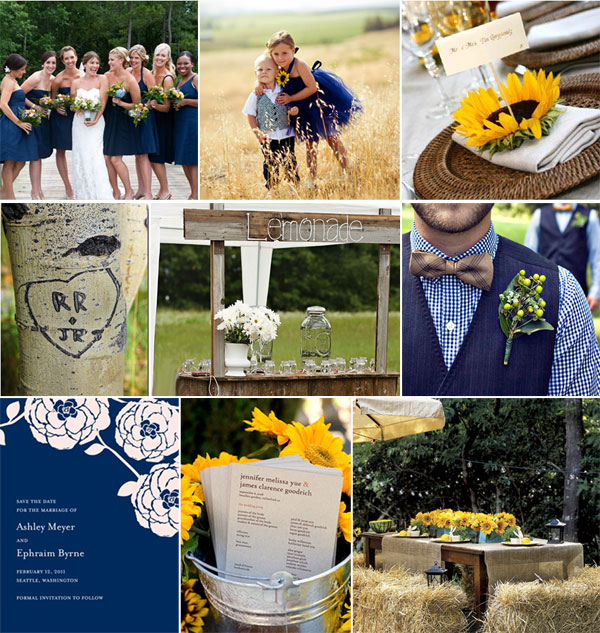 Please Help! Need inspiration for my royal blue and yellow wedding