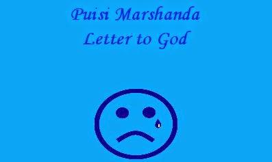 Puisi Marshanda -  Letter to God