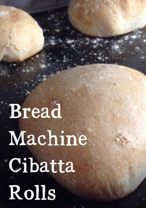 Bread Machine Ciabatta Rolls