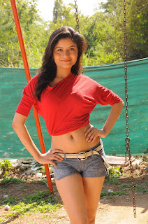 ehena in lovely half T Shirt and Denim Shorts Spicy Pictures