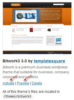 ganti theme wordpress