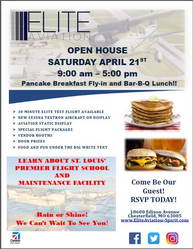 Elite Aviation Open House April 21