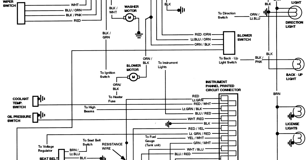 1984 ford bronco instrument panel wiring diagram