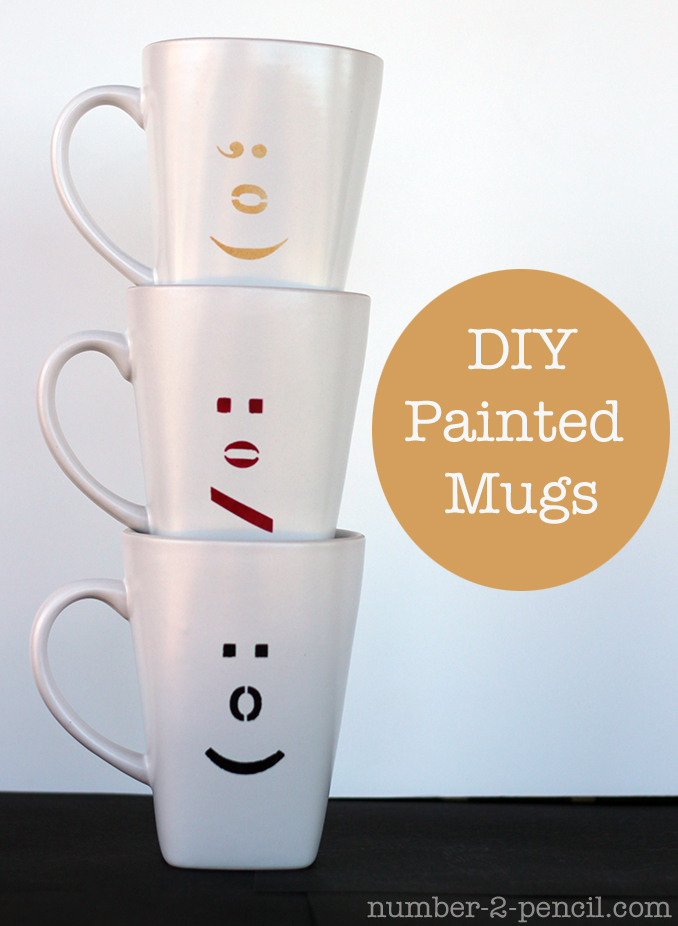 No 2 pencil reviews diy painted ceramic mugs with martha for Coffee mug craft kit