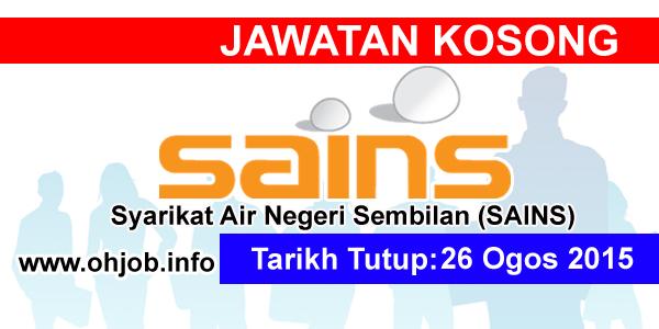 Jawatan Kerja Kosong Syarikat Air Negeri Sembilan (SAINS) logo www.ohjob.info ogos 2015