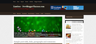 Xanthos Blogger Template is a Free Premioum Blogger Template