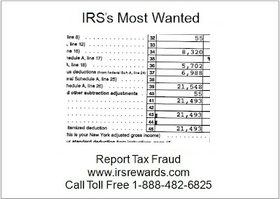 IRS's Most Wanted - Report Tax Fraud: August 2011
