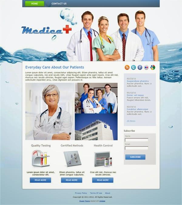 Medica - Free Drupal Theme