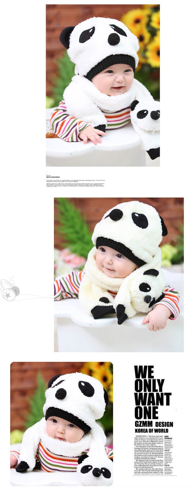 Hidayah Leen Health Amp Beauty Korean Kids Panda Hat