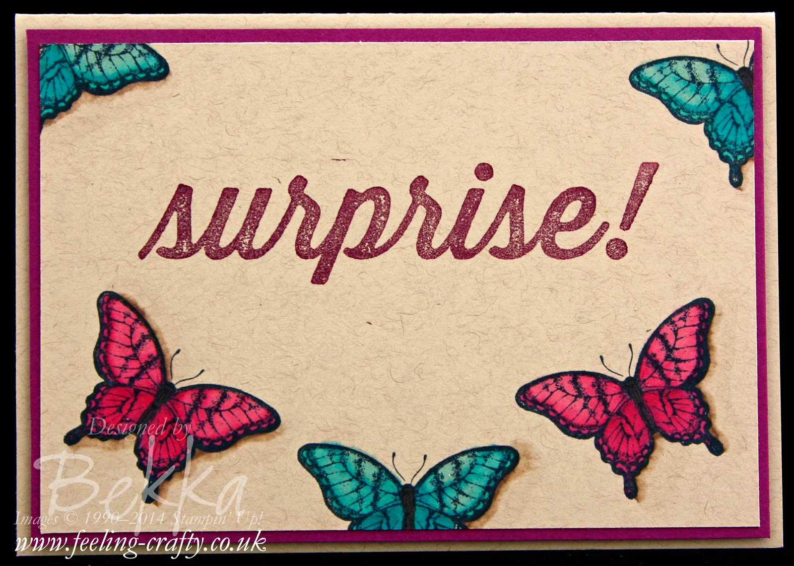 Birthday Surprise with Butterflies Coloured using Blendabilities - check out this blog for lots of great ideas