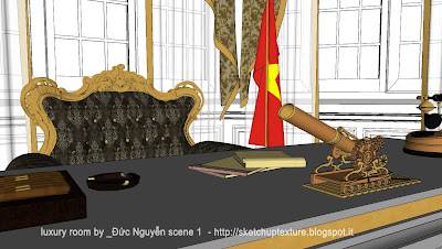 sketchup model luxury room detail 2