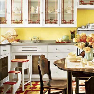 DECO CHAMBRE INTERIEUR: Cuisines colorées de style vintage