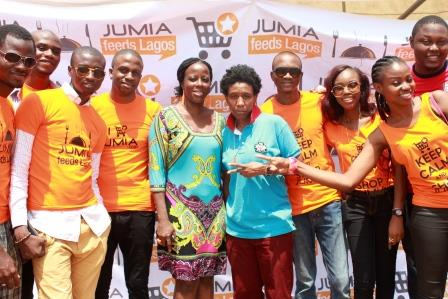 Photos jumia feeds 1 500 destitute and less privileged celebrities lend their star power miss - Jumia office address in lagos ...