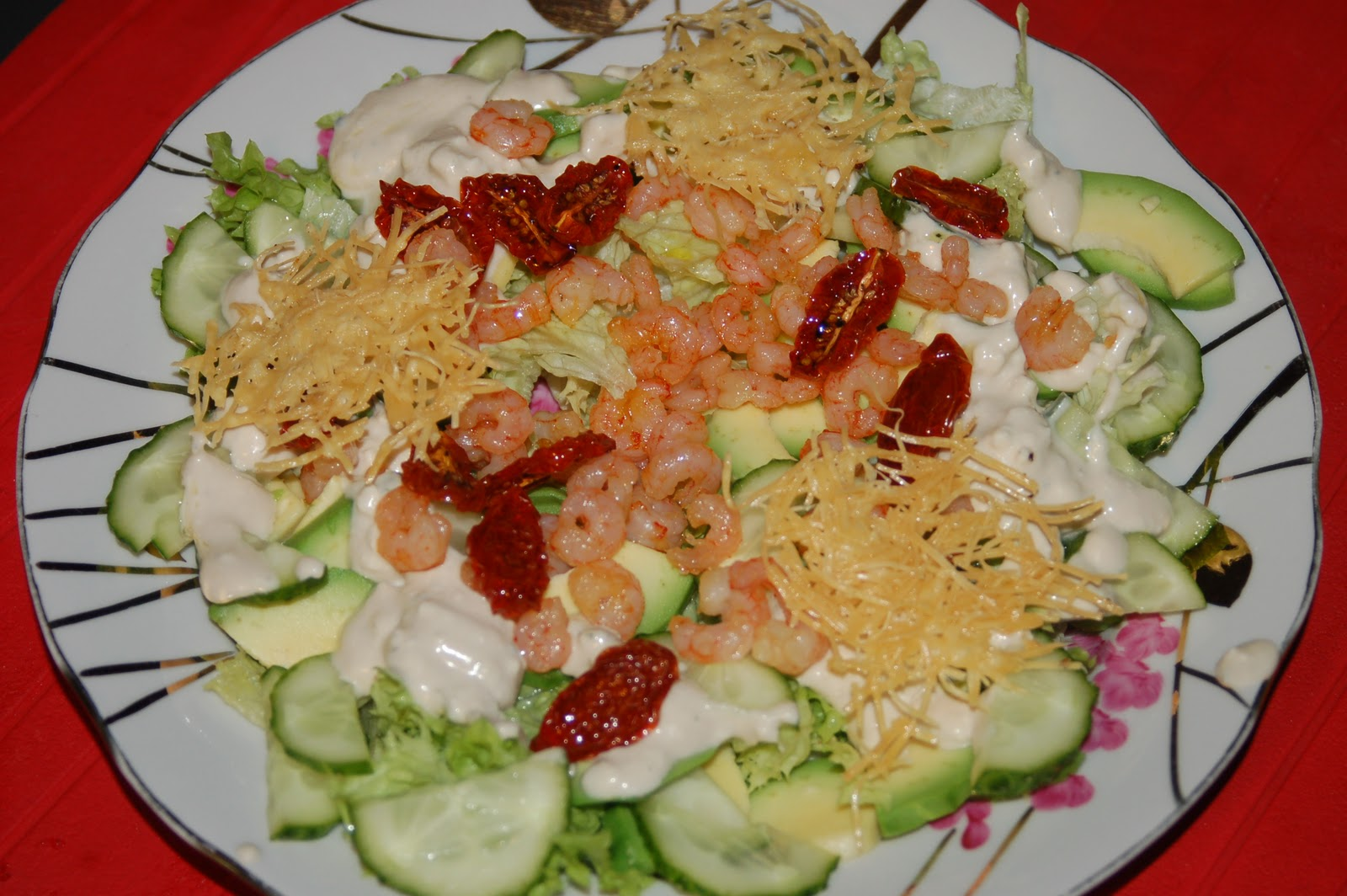 Салат из креветок и сыра рецепт пошагово