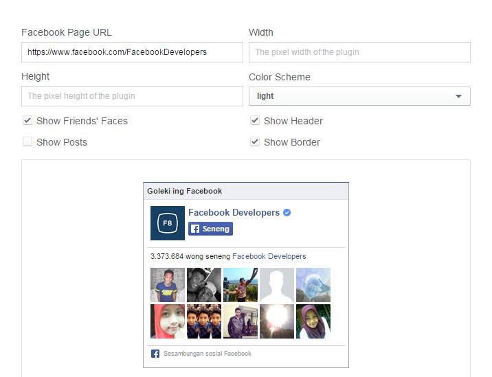 Memasang Facebook Like Box Pada Blog