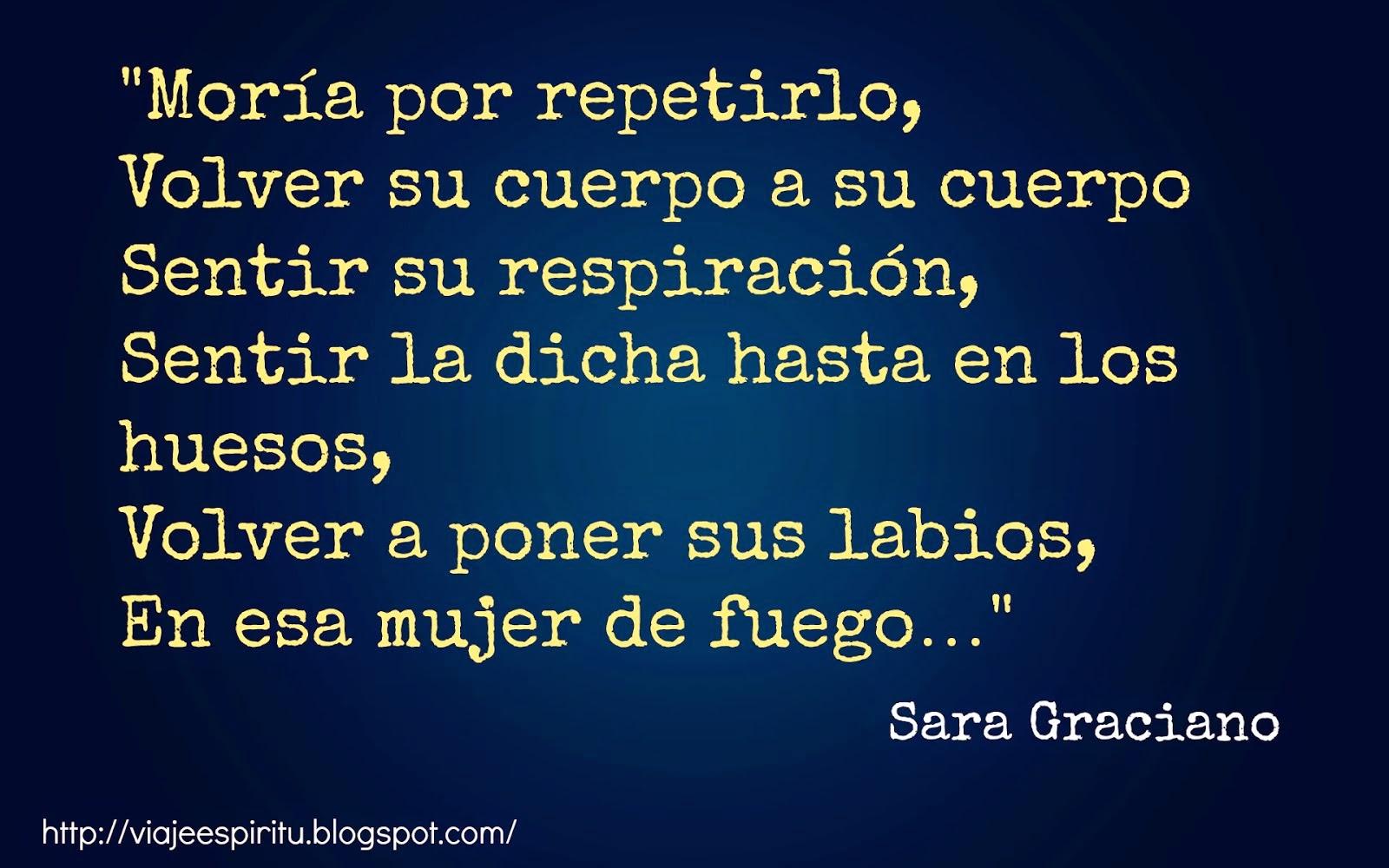 El hombre de deseos infinitos, Sara Graciano