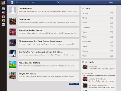 Facebook newsfeed Blogger Template