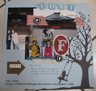 Timeless Portrait scrapbook page by Ida Chan