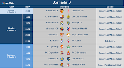 jornada 6 liga