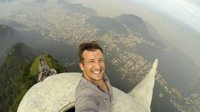 Imagen del día: Selfie desde arriba de Río de Janeiro