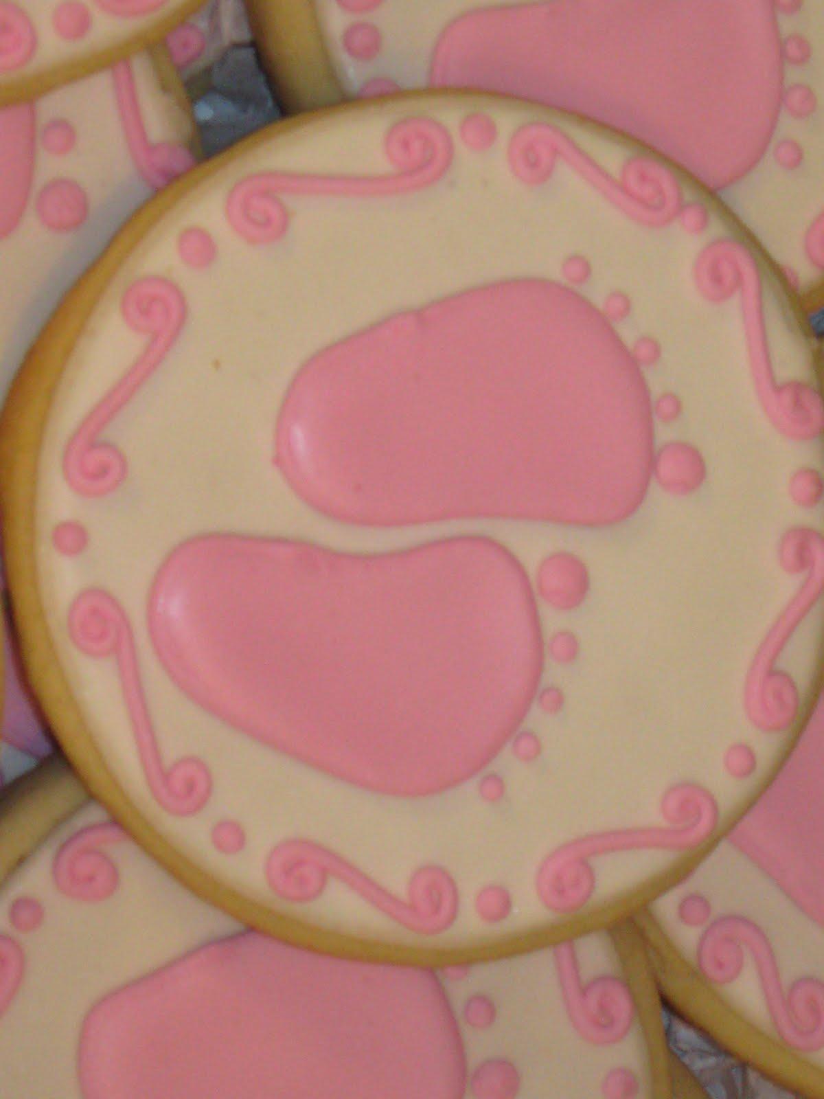 sweet serendipity baby shower cookies girl