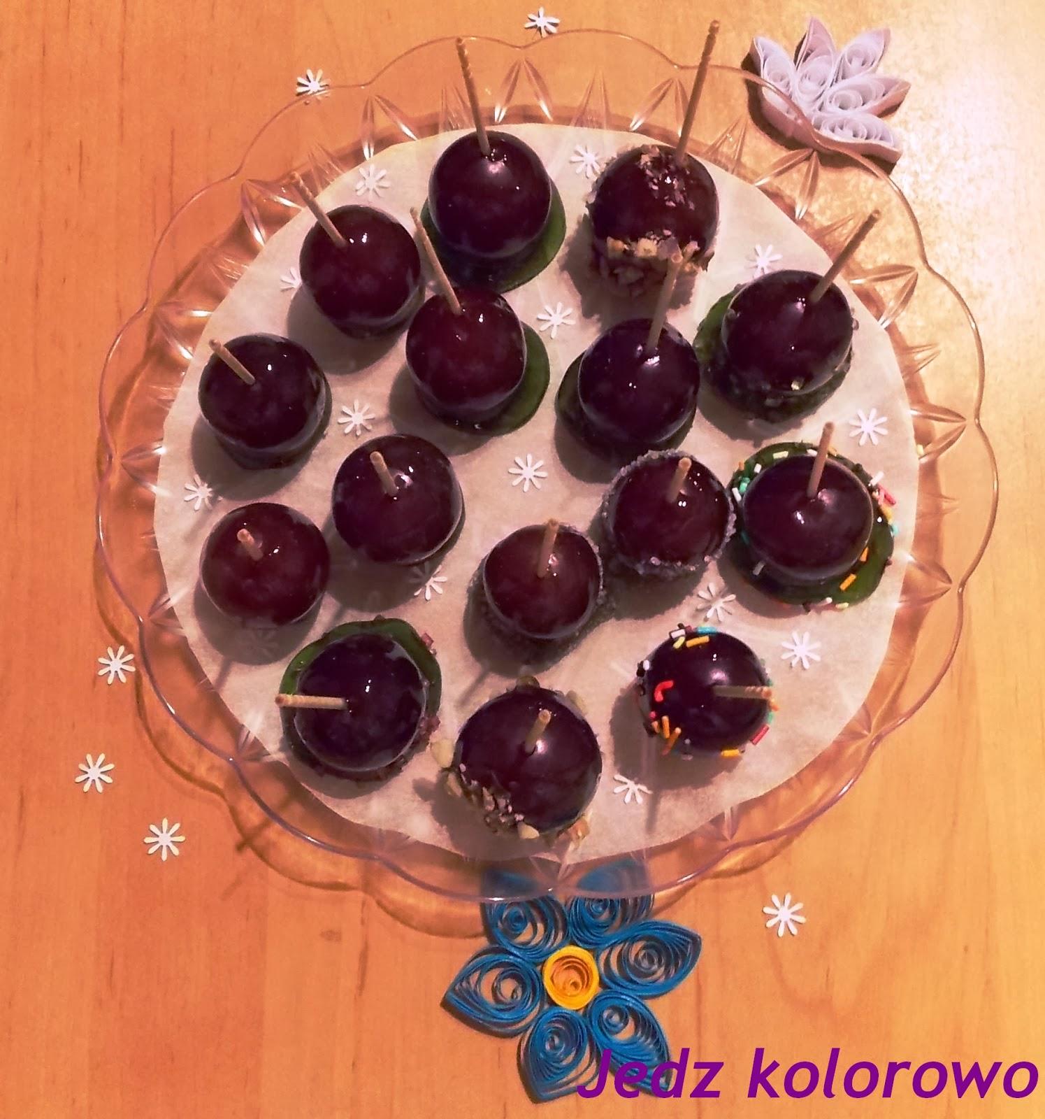 winogrona karmelizowane