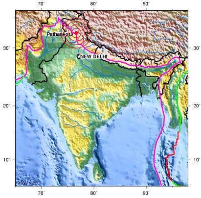 HIMACHAL PRADESH, INDIA earthquake  2012 October 02