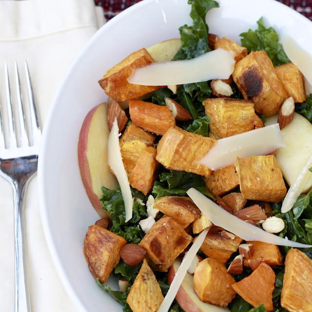 mustardy kale salad