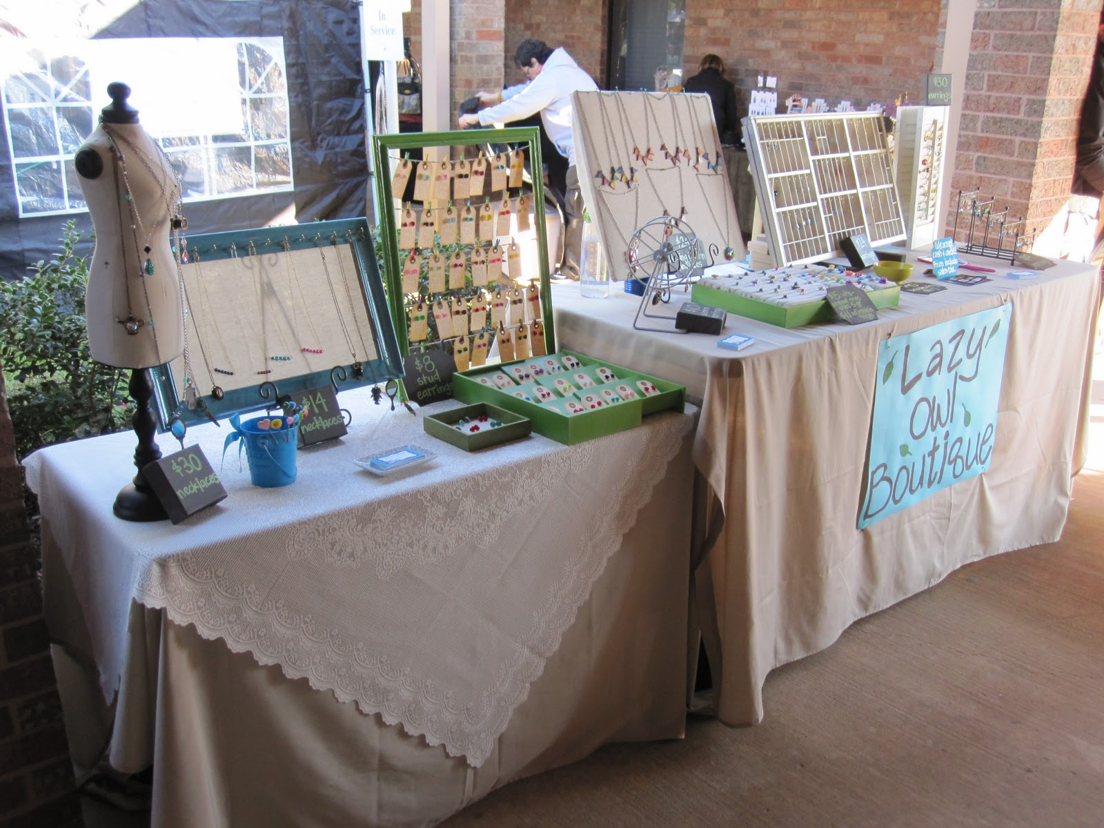 Lazy owl boutique first craft fair experience for How to make a ring display for craft shows