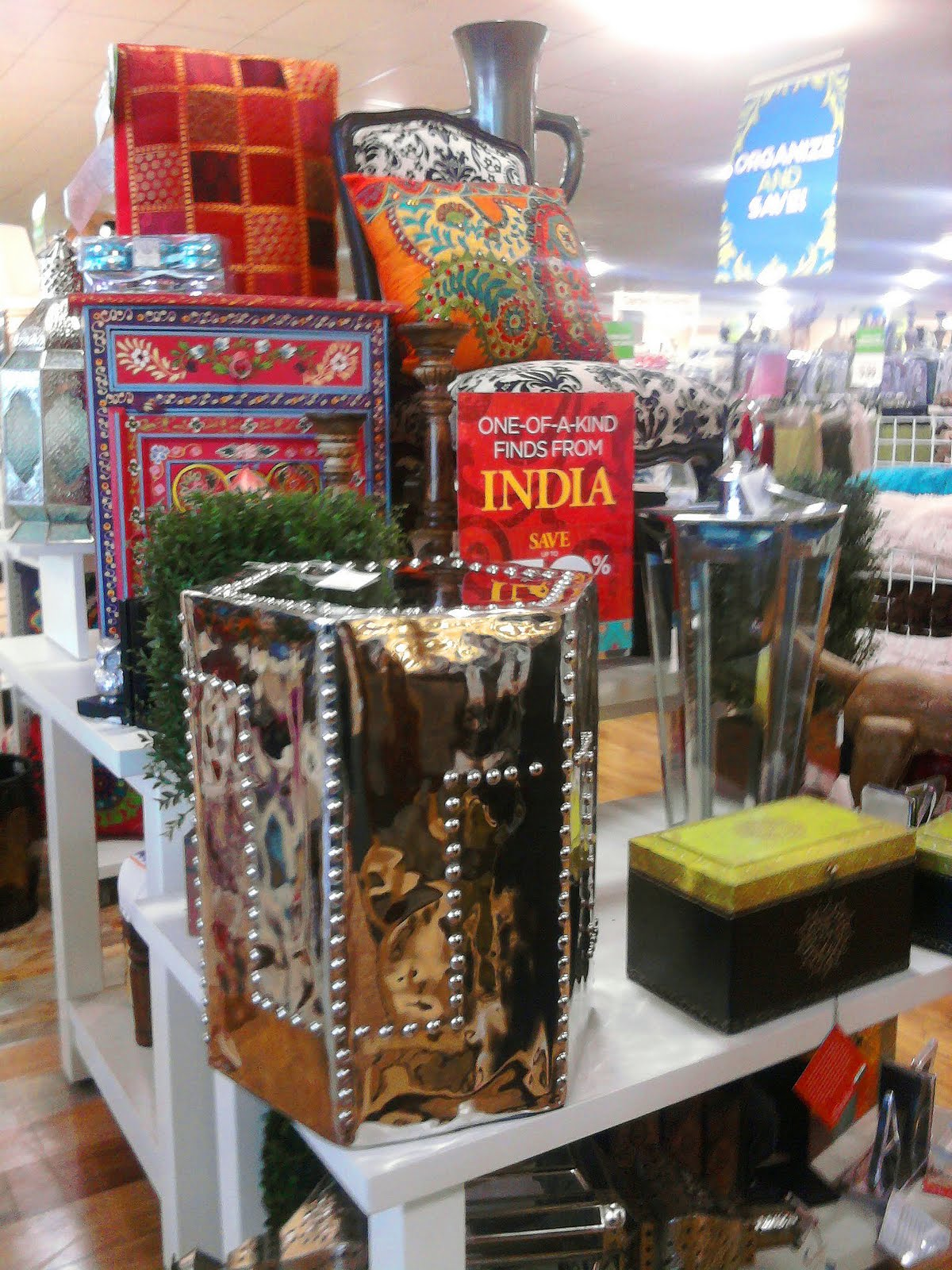 One of a kind finds from INDIA at Home Goods. apartmentf15  July 2011
