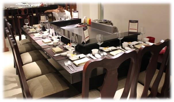 Review Of Restaurants Teppan Bangalore - Teppan table