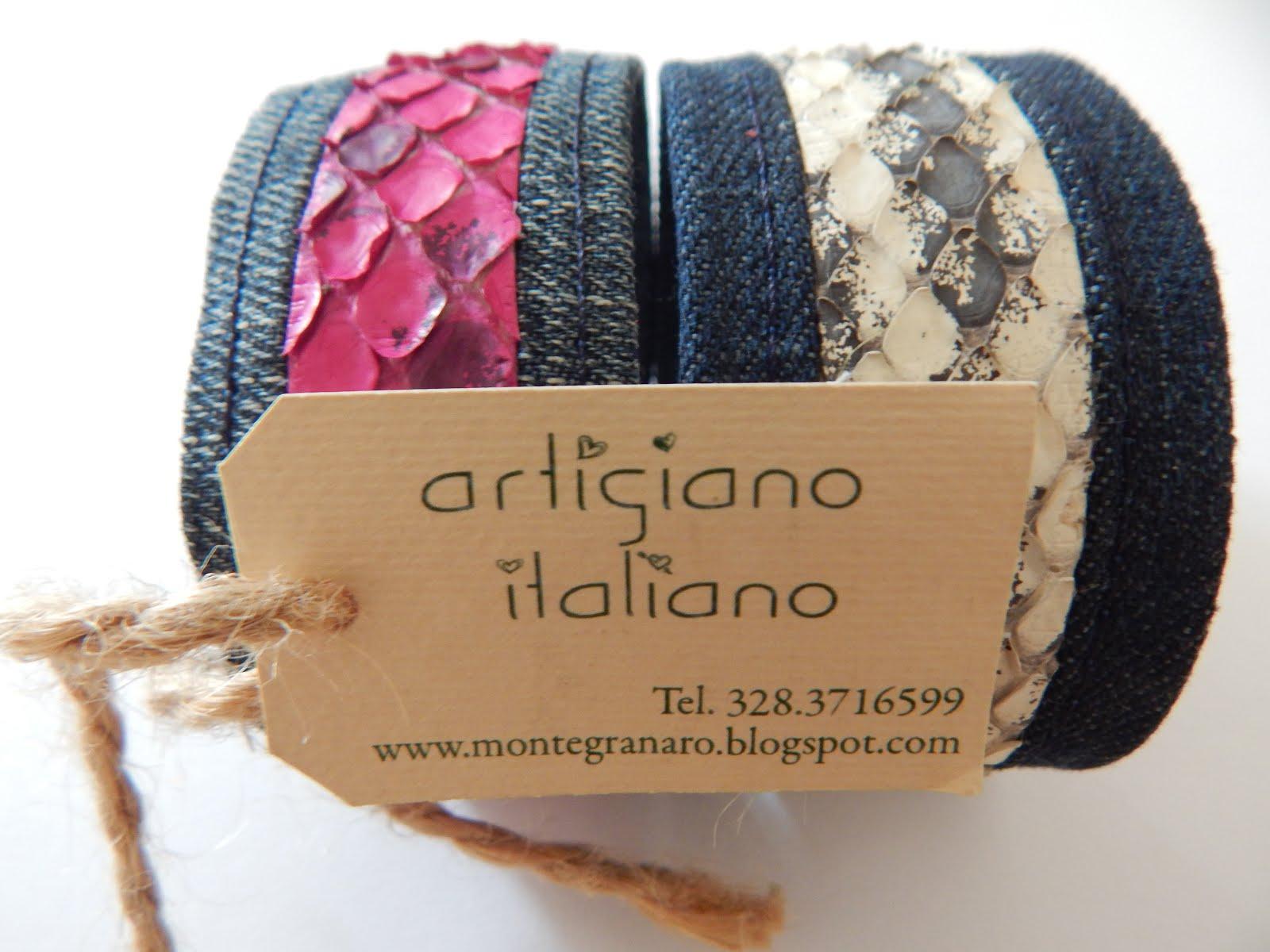 Artigiano Italiano che crea braccialetti particolari
