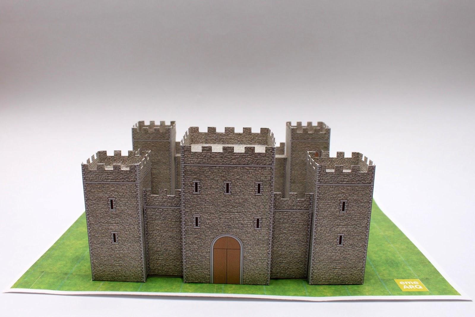 Как сделать средневековый замок из бумаги своими руками