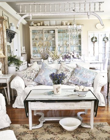 Shabby Chic Decorating Ideas | Kitchen Layout & Decor Ideas
