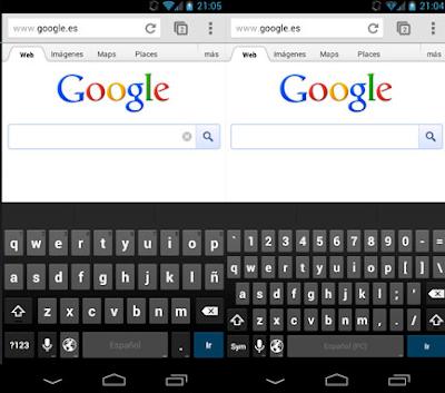 Cómo cambiar el teclado a estilo PC (Android 4.1 Jelly Bean)