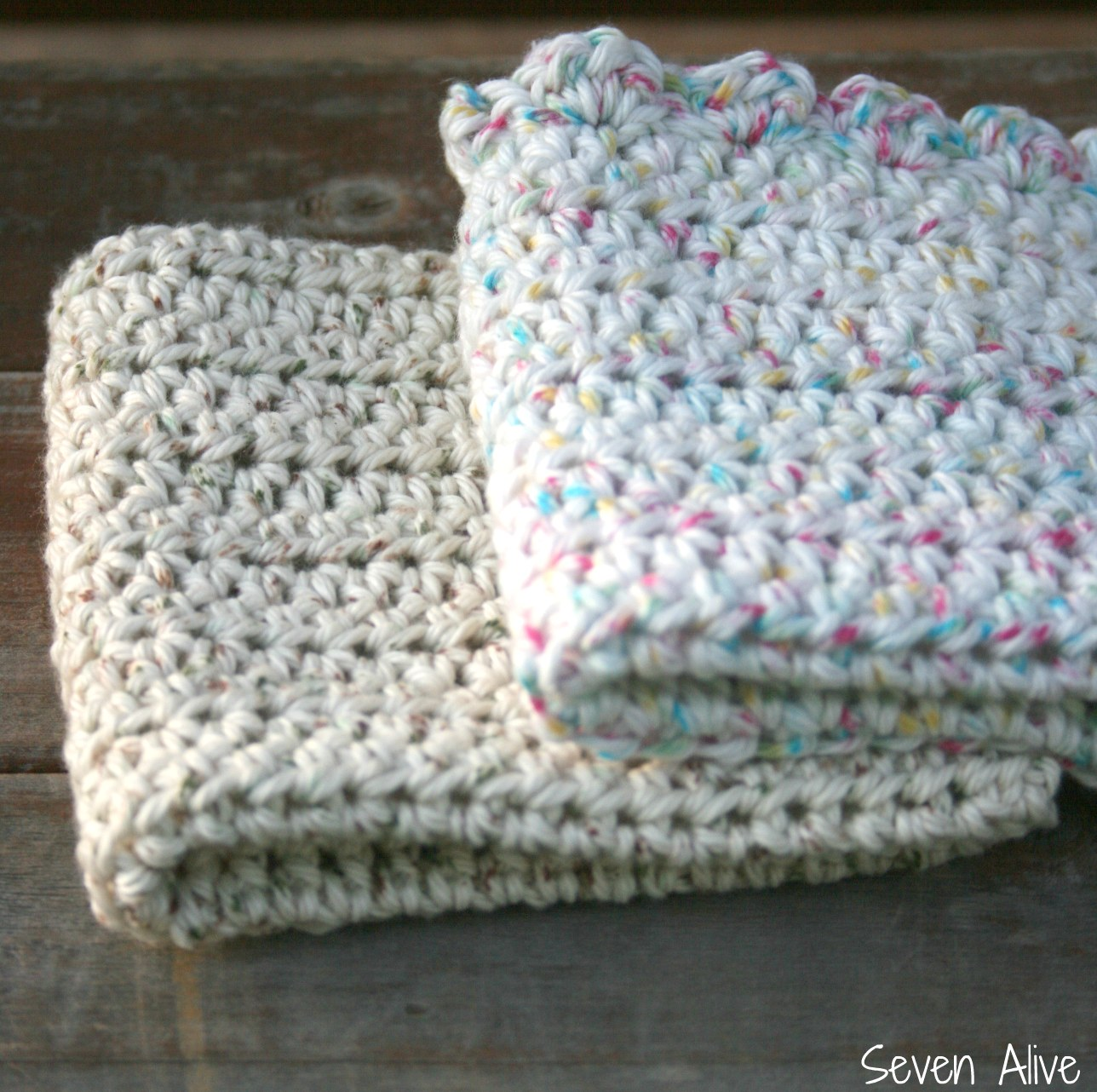 Crochet 101 photo tutorial crocheted dishcloth pattern seven alive bankloansurffo Gallery
