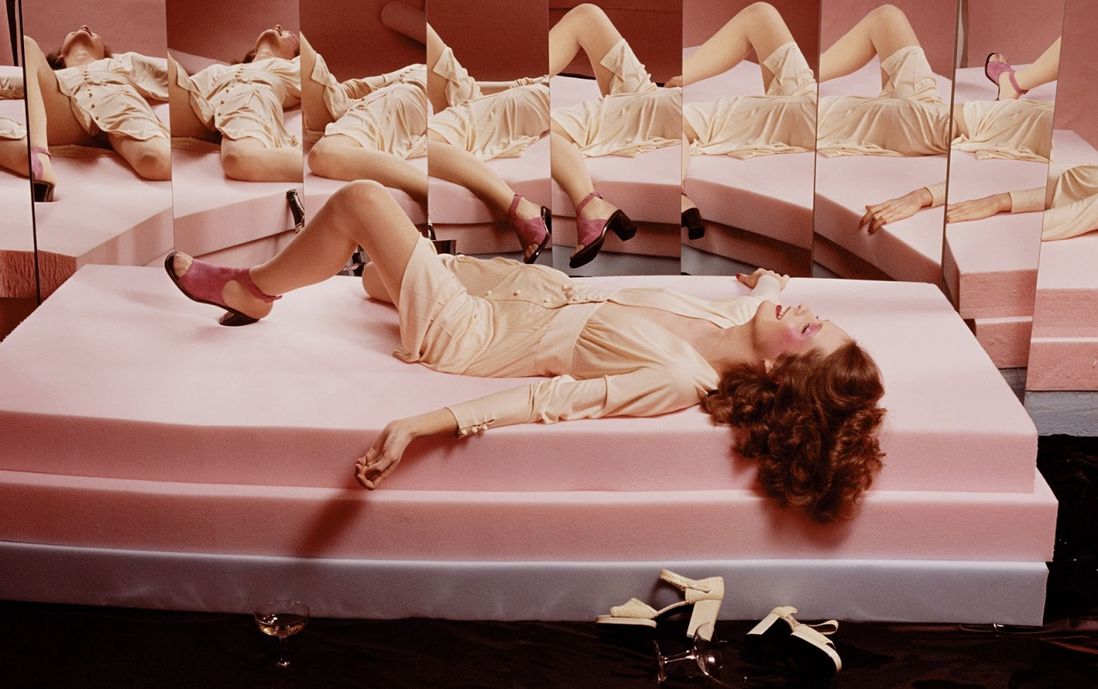 via fashioned by love | Guy Bourdin Vogue Paris March 1972
