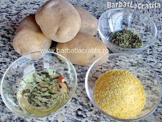 Cartofi crocanti la cuptor ingrediente reteta
