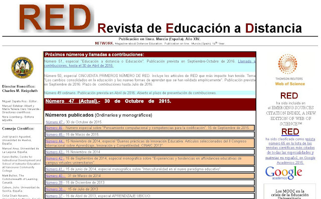 Revista de Educación a Distancia (RED)