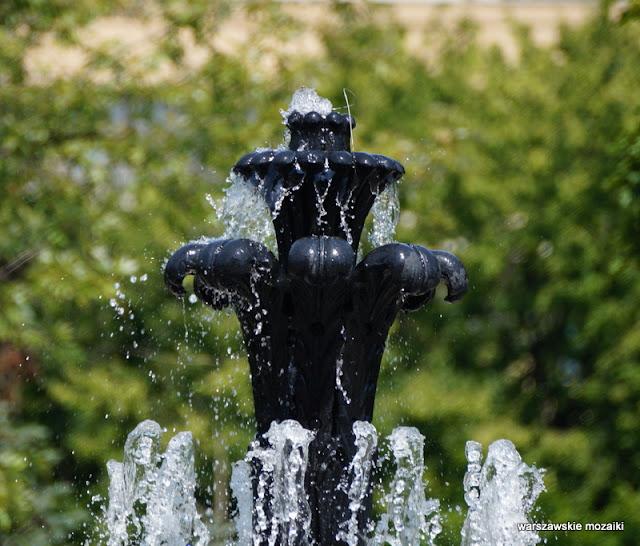 Warszawa park Świętokrzyski Pałac Kultury i Nauki wodotrysk delfiny