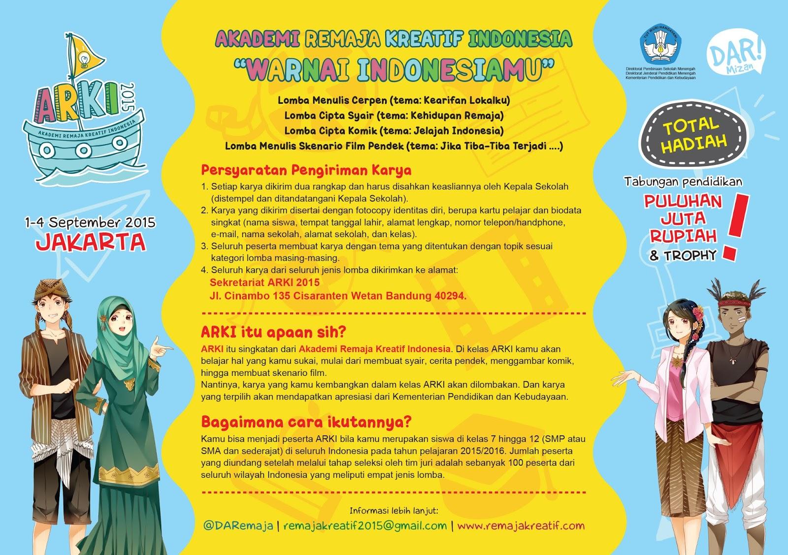 Akademi Remaja Kreatif Indonesia 2015 ~ Cerita Dunia Shinta