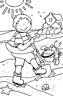 summer coloring pages, kids coloring pages