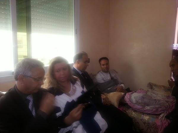 مدير الأكاديمية يقوم بزيارة مؤازرة لأستاذ مادة الرياضيات بالثانوية التأهيلية عبد الكريم الداودي