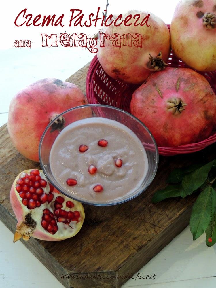 Crema pasticcera alla melagrana - www.lapasticceriadichico.it