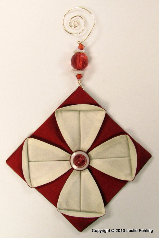 everyday artist fabric origami the prettiest ornaments