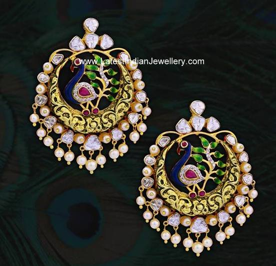 Peacock Chandbali Earrings