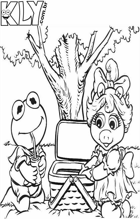Miss Piggy Kermit Coloring Pages Miss Piggy Coloring Pages